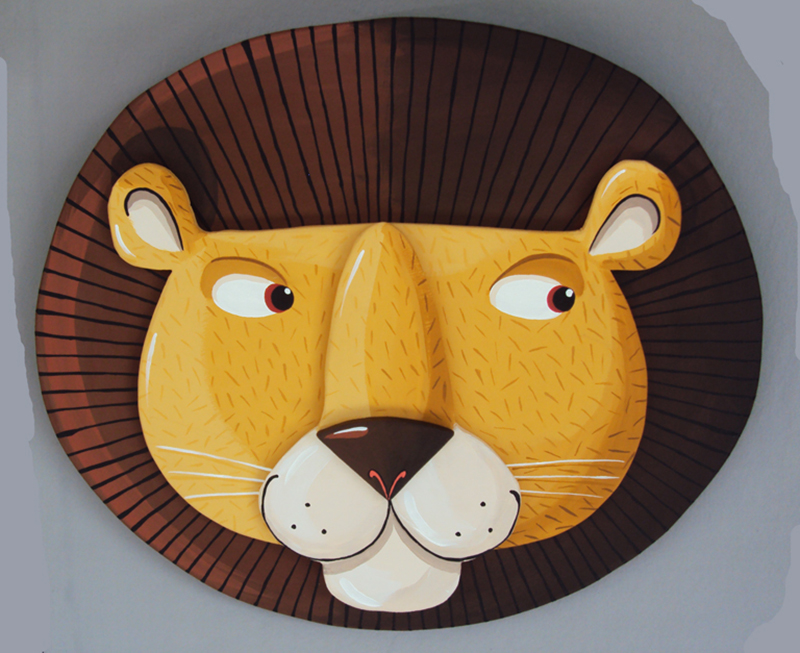 Tête Lion médium BD